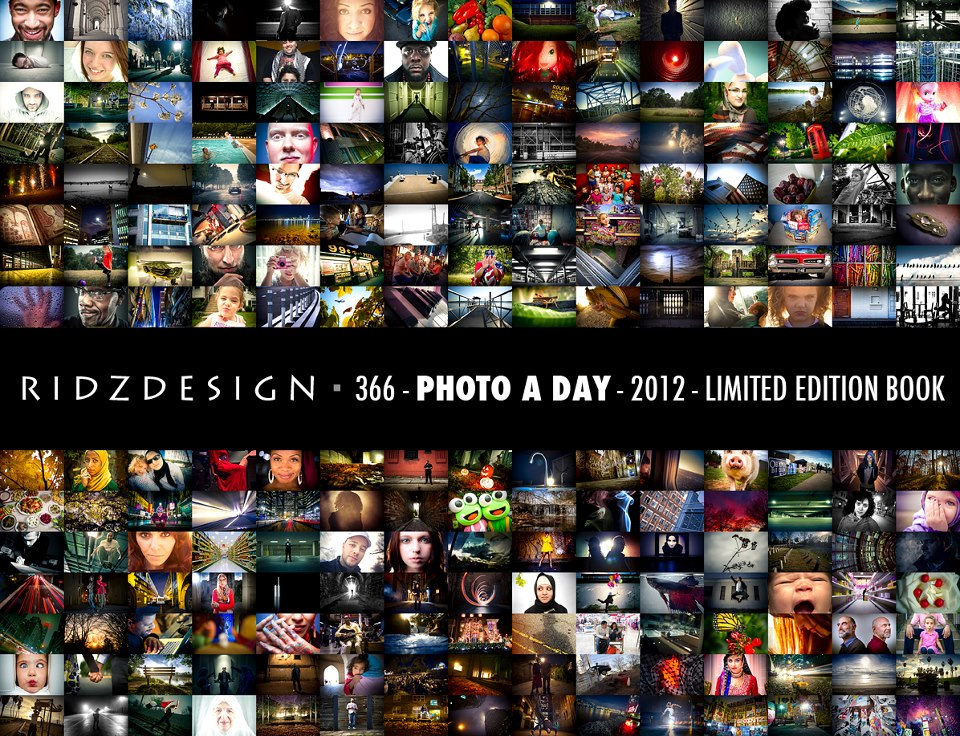 Ridzdesign 366 - A Photo A Day Project - 2012It is finally here... after completing 366 days of photography and philosophy... it is now time to print the book... HELP GET THE BOOK PRINTED AND GET YOUR COPY!!!www.kickstarter.com/projects/ridzdesign/ridzdesign-366-a-photo-a-day-2012-limited-edition