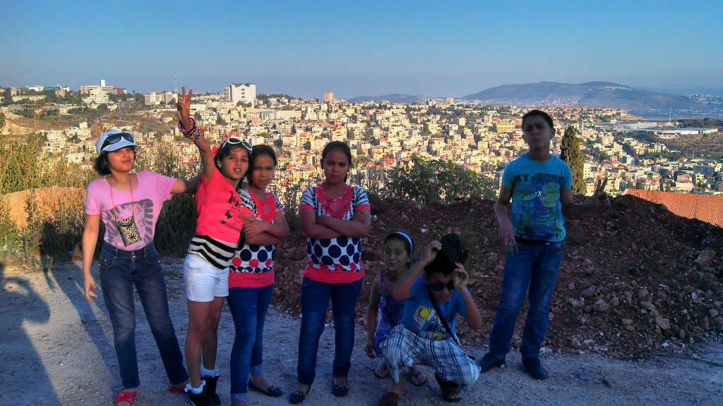 Kids from Balata Refugee Camp in Nazareth